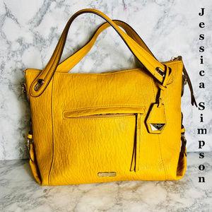 Jessica Simpson Roxanne Mustard Satchel Handbag